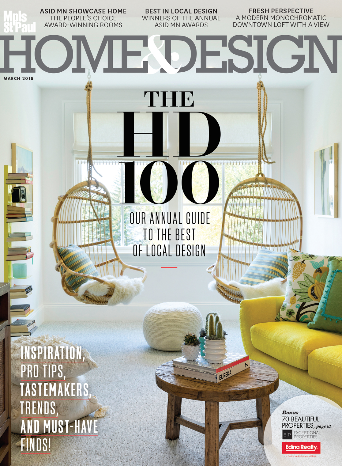 Our award-winning projects were featured in the spring issue of Mpls.St.Paul  Home & Design.
