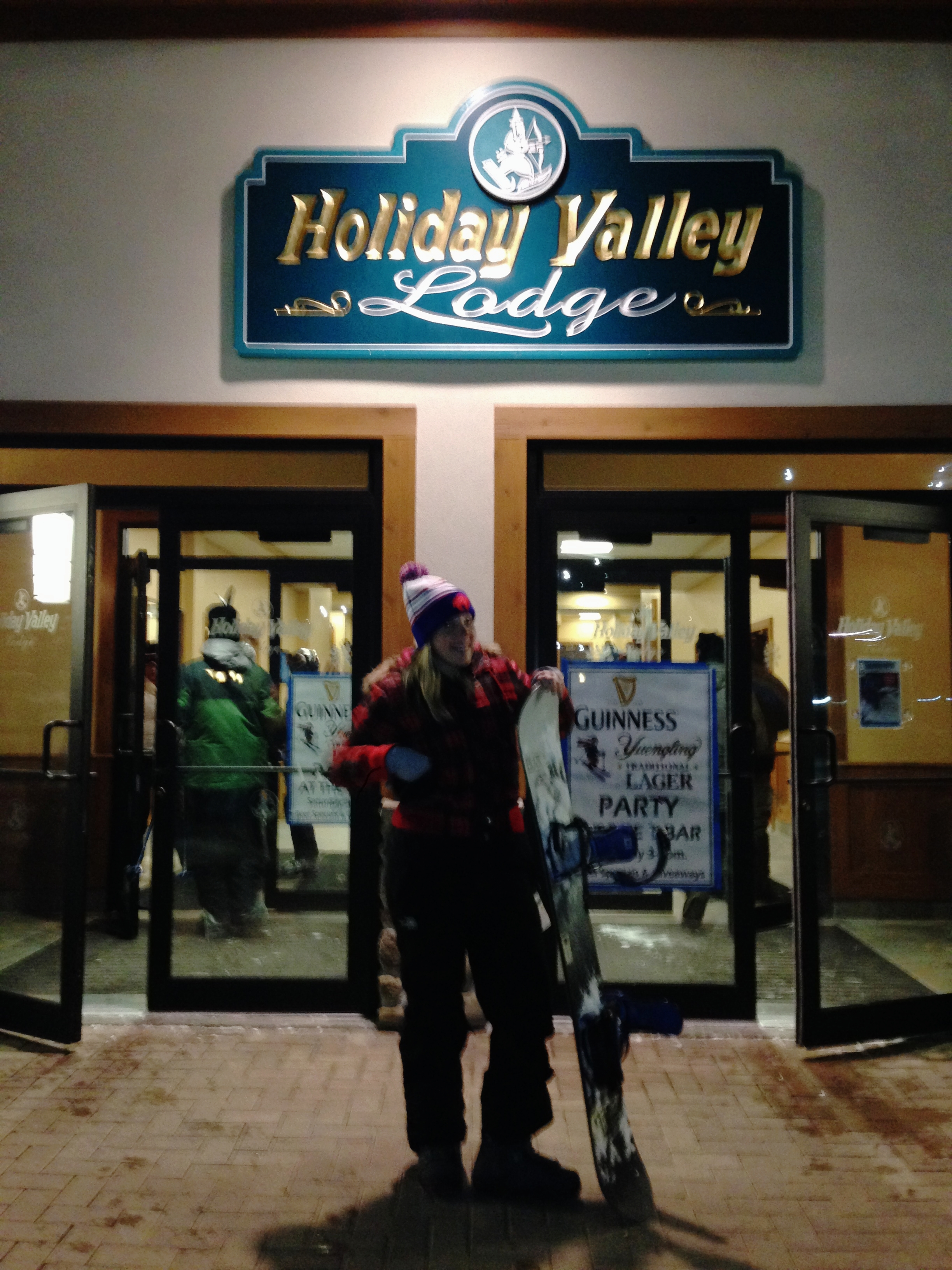 learn to snowboard at Holiday Valley