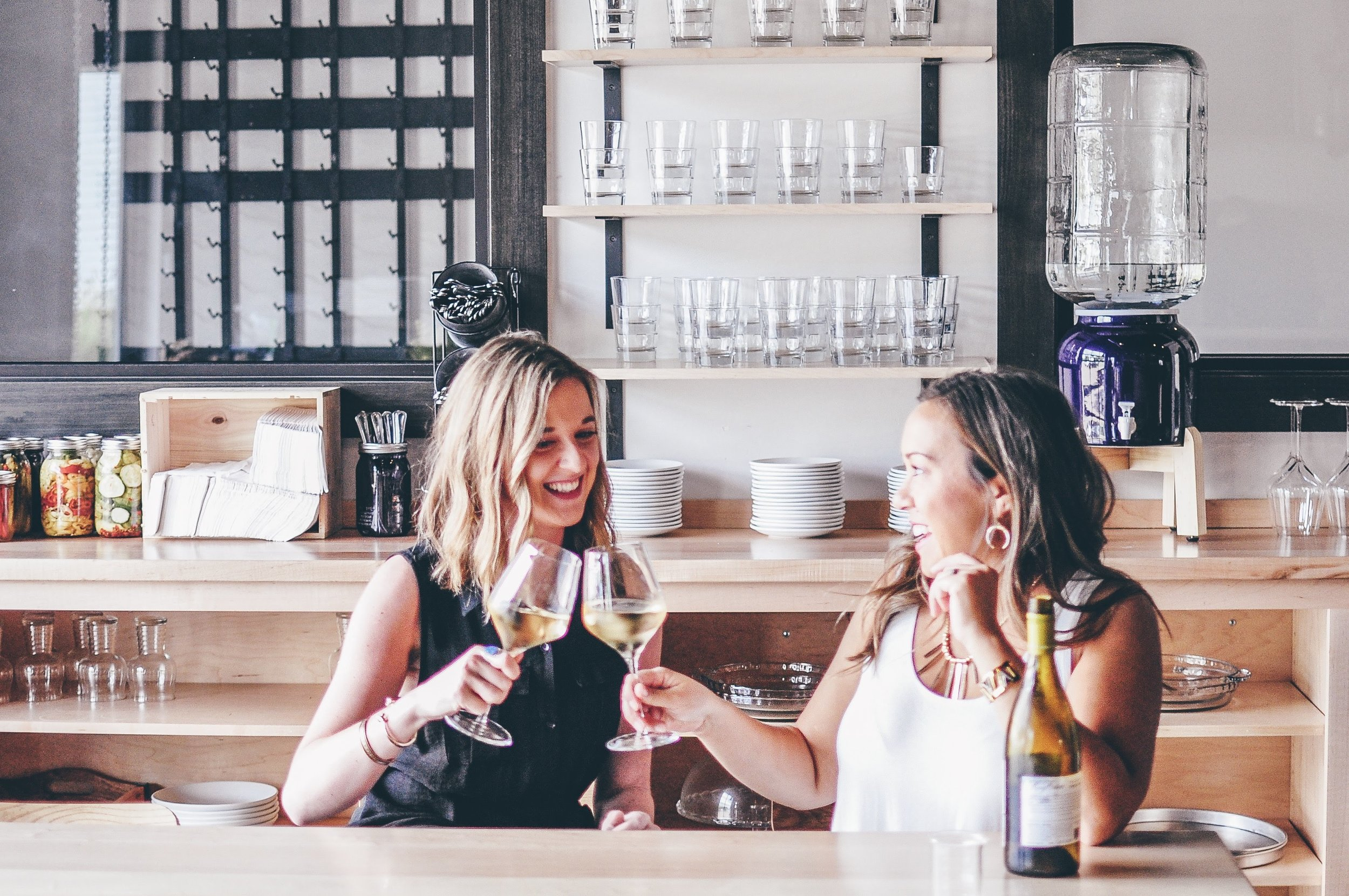 Nicole Casell & Anne McIntosh - owners of Alchemy Wine & Beer  (photo courtesy of Nicole and Anne at Alchemy)