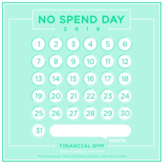 no spend day tracker