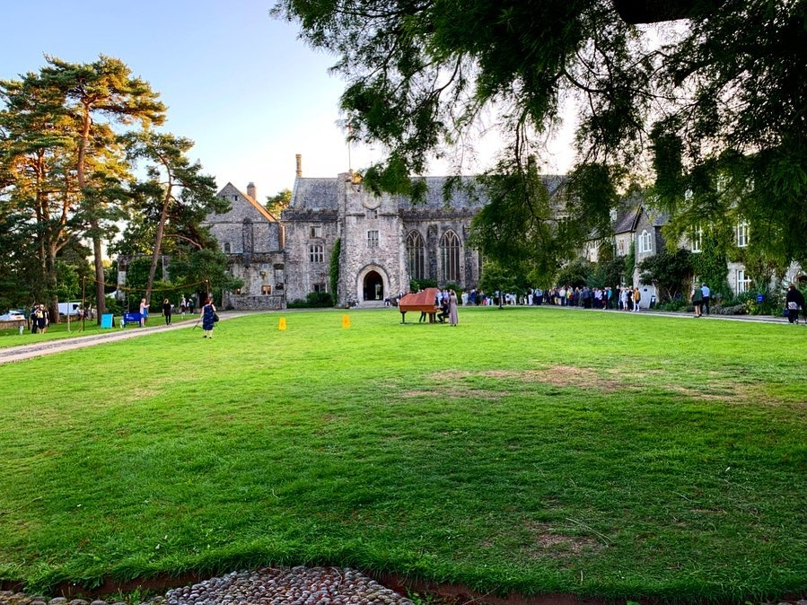 Dartington Hall before the evening concerts begin
