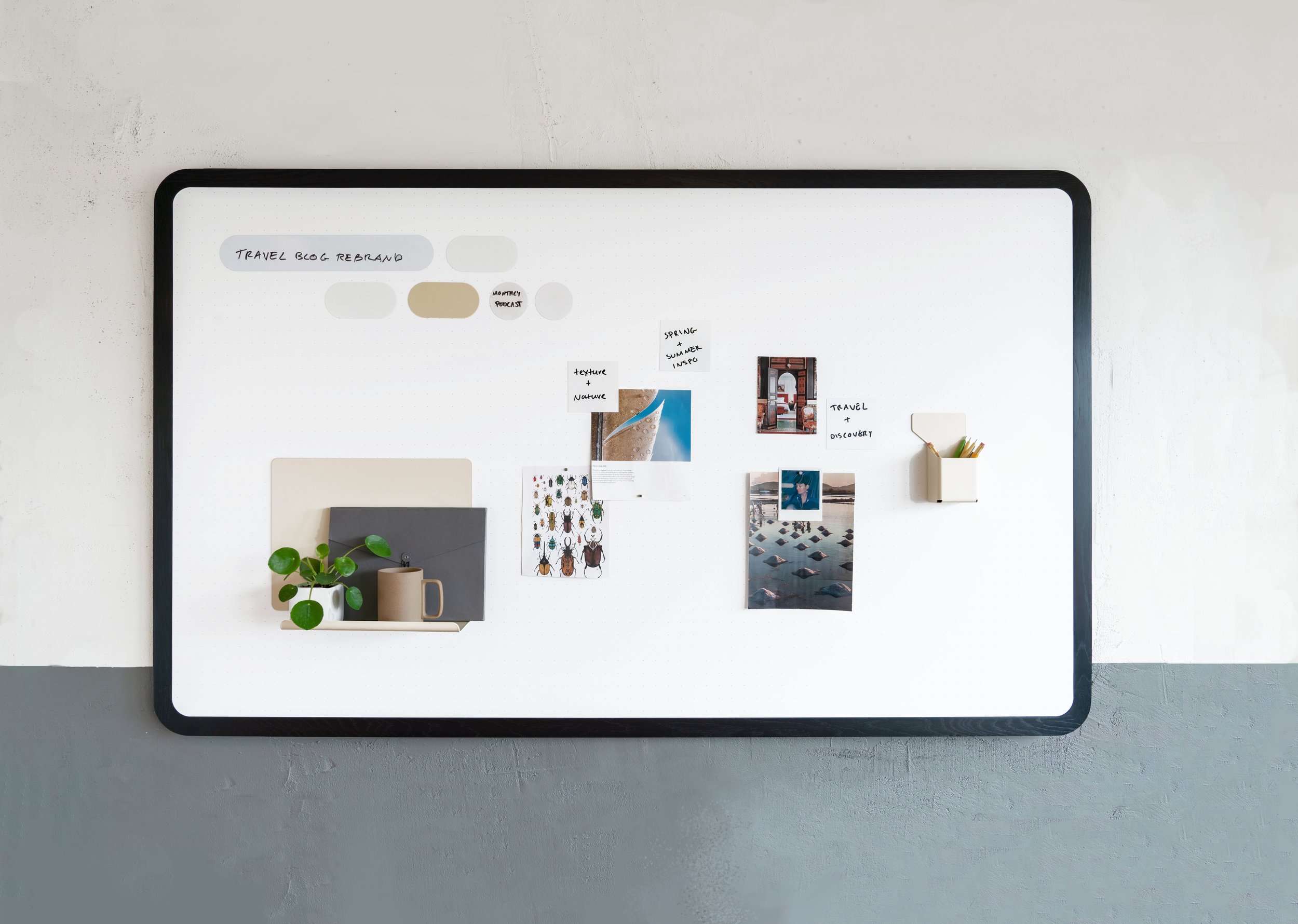 Mounted boards - Our new Moodboard Series are a range of multi-purpose wall-mounted boards that Integrate our award-winning materials technology. We make these boards in a range of sizes, styes and finishes.
