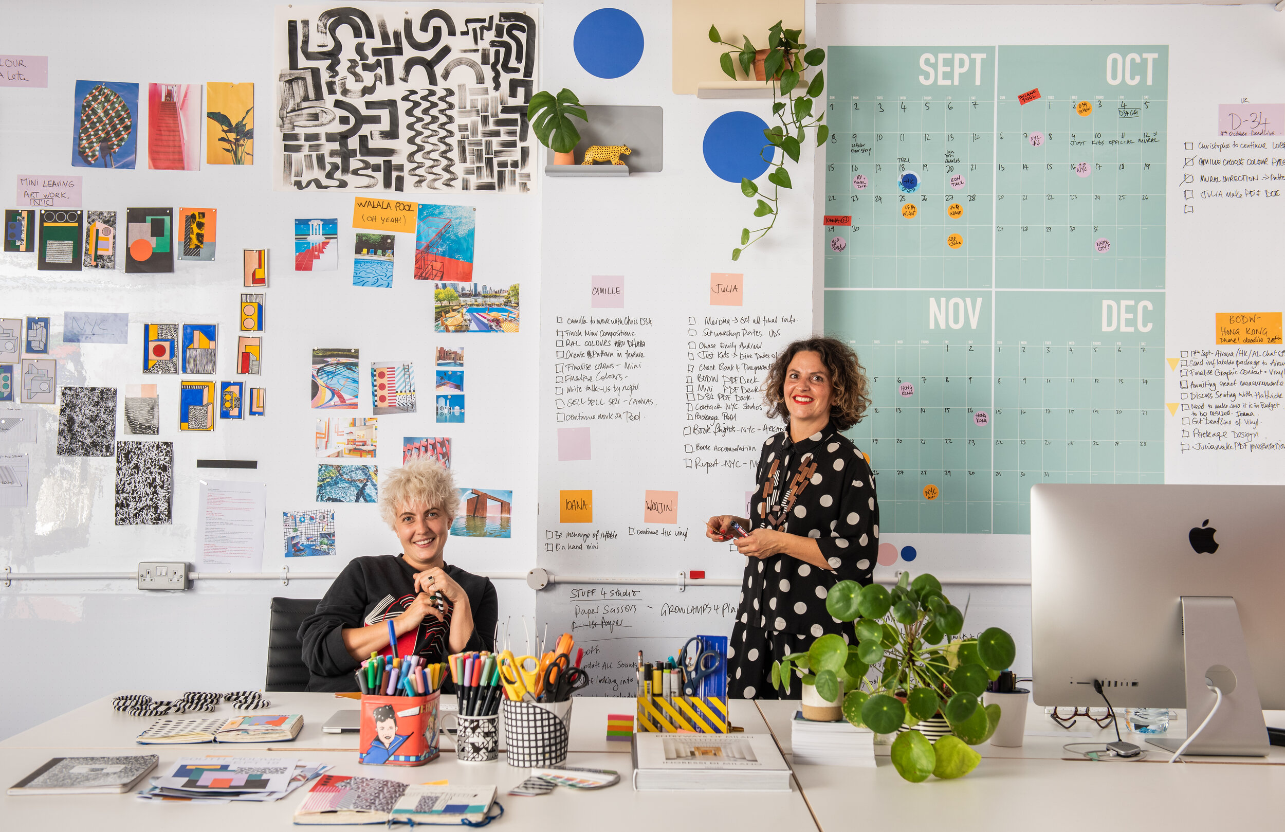 Julia Jomaa (left) & Camille Walala (right) | Photography by Charles Emerson