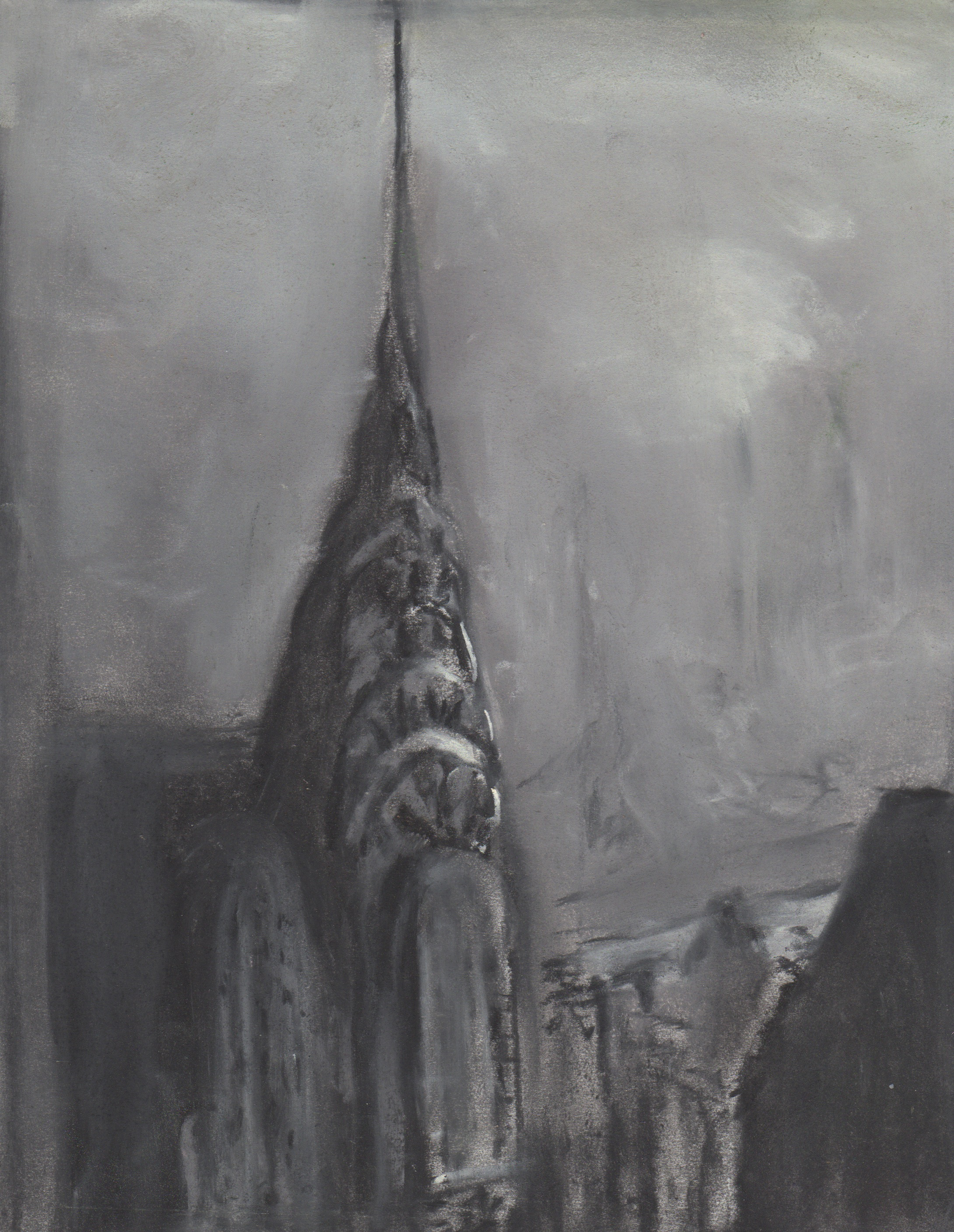Chrysler Building, charcoal, 8x10, $40