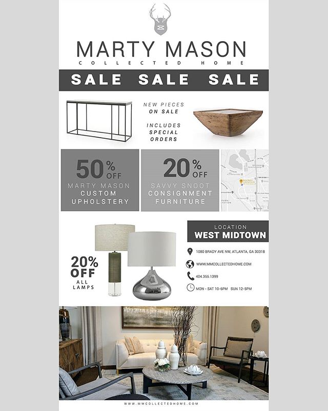 #mmch #martymasoncollectedhome #furnituresale #designservices #mmchsale #lamps #westmidtown #interiordesignatlanta #Interiordesign #lampsale #