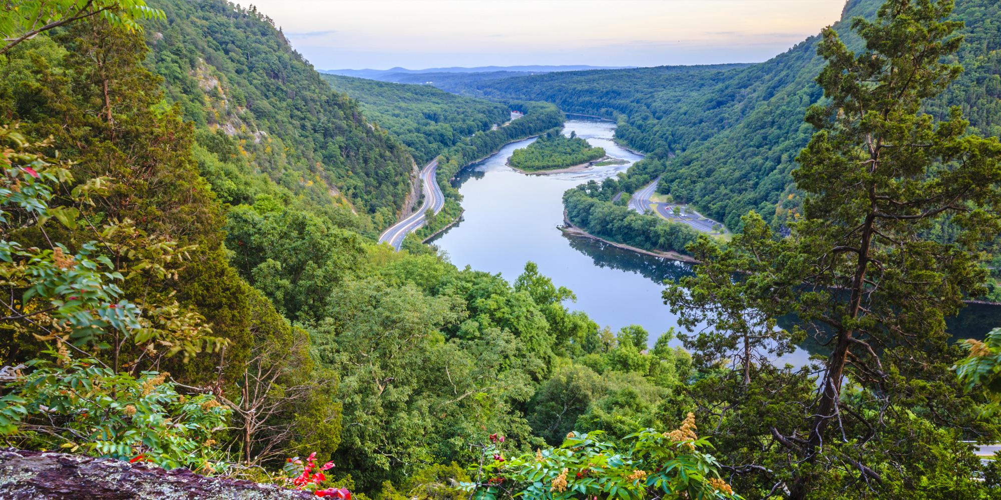 Delaware Water Gap Ariel View