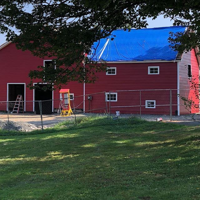 Wow! It looks like our barn again!! Coming along so nicely... maybe there'll be a barn dance in our future?