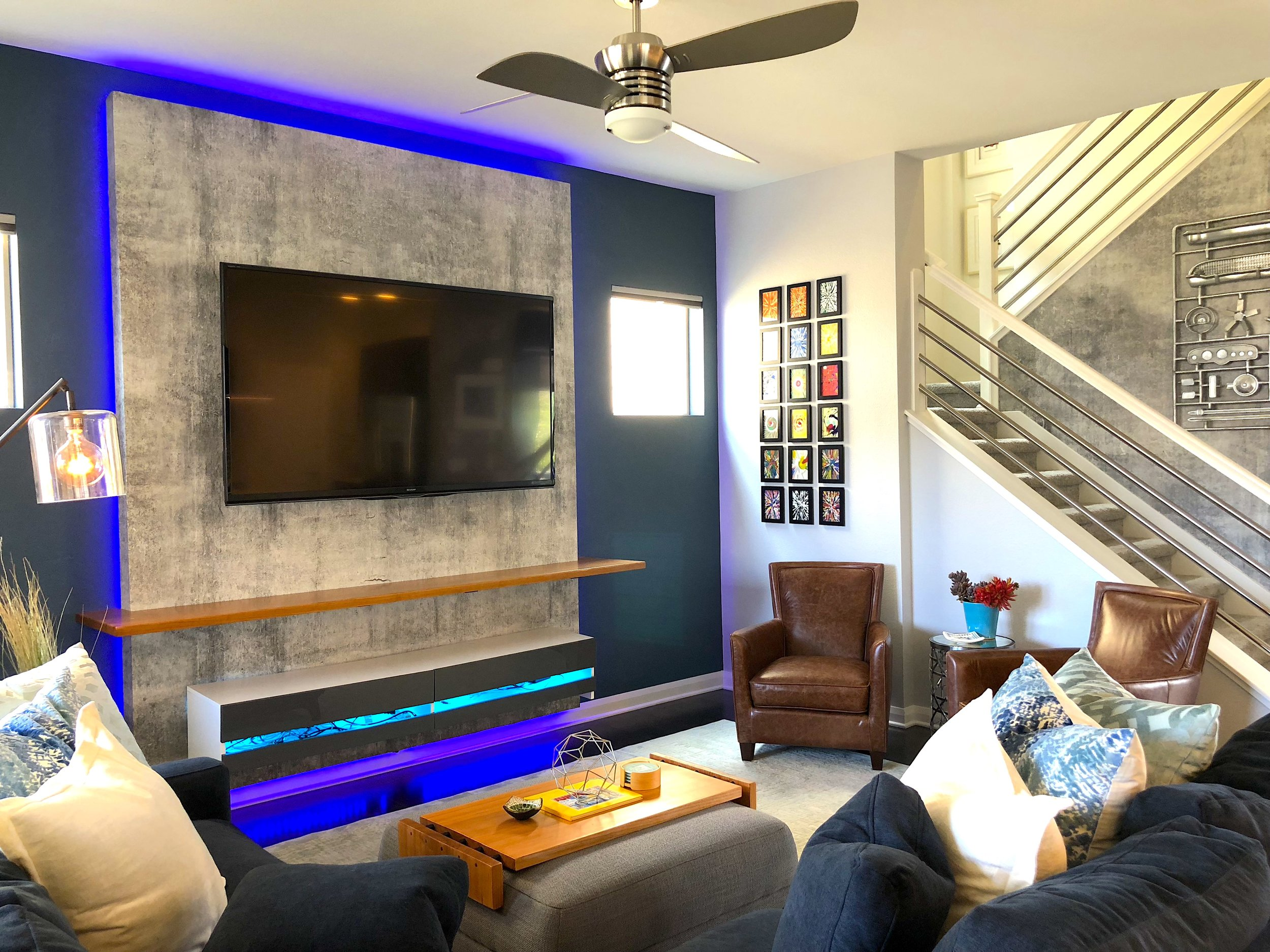 Denver Living Room Feature Wall