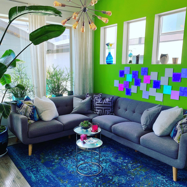 Bright Colors Living Room Interior Design Denver