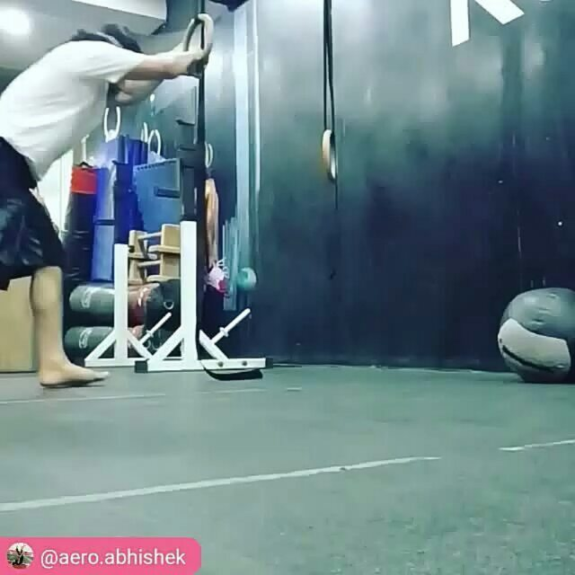 Ring lats stretch..... As I promised today will elaborate it in detail.  I posted this video last year too when I started this stretch primarily before overhead pushing and pulling.  After a year incan vouch for this stretch not just for overhead mobility but the whole lateral fascial line from fingers to toe.  It doesn't just open lats and improve grip strength but stretch those tight intercostal muscles, serratus anterior, QL and even gluteal medius.  Beginners can start with both hands gripping the ring and hips on the floor for 30 seconds to a minute  Slowly when you get some ease and got slightly supple then start raising the height of rings or duration of stretch or both.  Daily dose of this simple move can improve the life of an overhead athlete as well as a desk Jockey.  Lats and QL tension can contribute in lower back pain and intercostal tightness can create breathing plus postural issues.  So give it a shot and let me know how it goes.  With @joe_jj1986 and @ranjitdavid  #stretch #ring #gymnasticrings #gymnastics #gymnasticbodies #crossfitgymnastics #crossfit #overheadpress #overheadsquat #overheadmobility #handstand #handstandmobility #shoulder #shoulderpain #shoulderworkout #movement #movementculture #yoga #yogaalignment #rehab #prehab #posture #posturecorrection #backpain #reebokcrossfitrobust #reebokindia #roadtorevamp