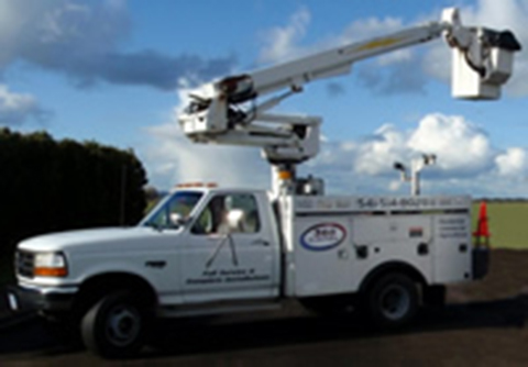 Bucket truck, electrical contracting, electrician, wiring, house, home, inspection