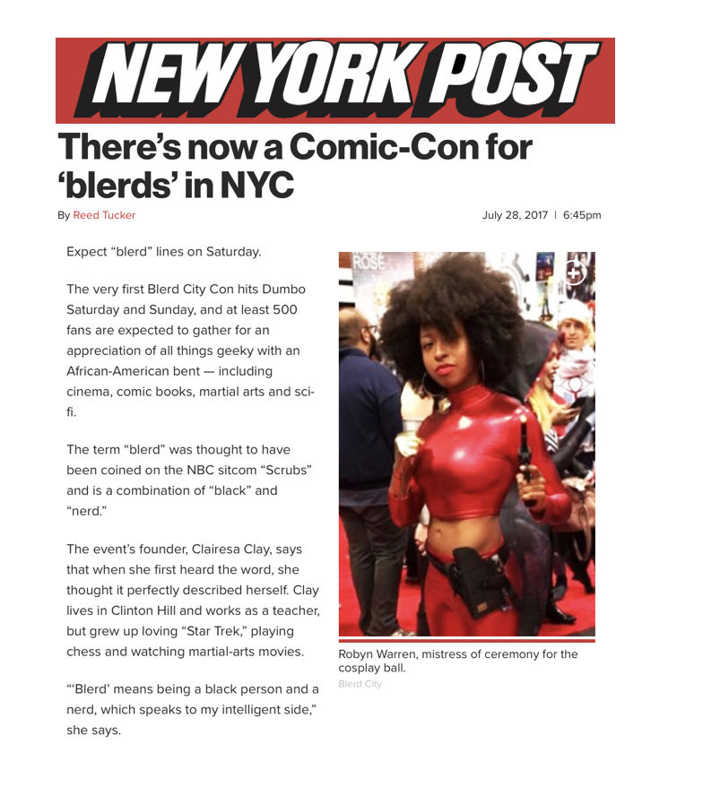 28. Blerd City Con-Geek Girl Strong in NY Post .png