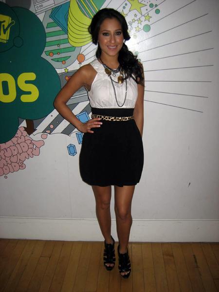 6.Adrienne Bailon Qi skirt.jpg