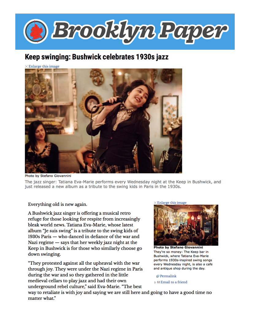 23. Tatiana Marie and The Avalon Jazz Band in The Brooklyn Paper.png