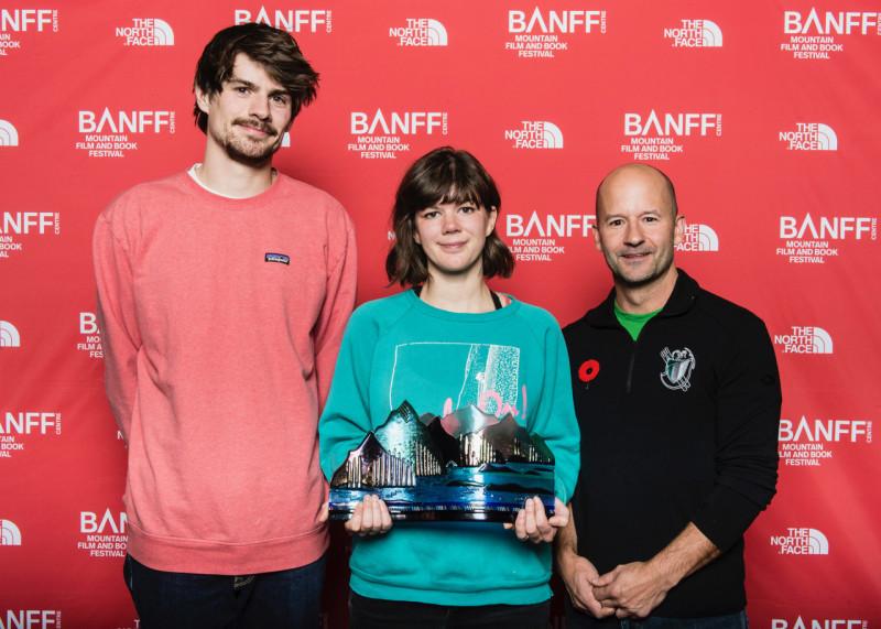 Banff Centre, Mountain Film and Book Festival, 2017, Best Climbing Film Psycho Vertical, Alpine Club of Canada Sponsor, Jen Randall.