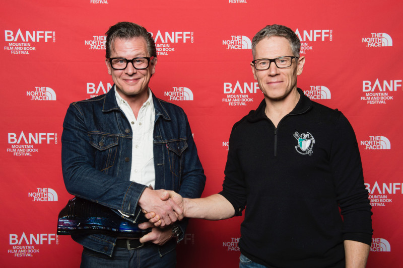 Grand Prize Winner Jim Herrington with the ACC's Keith Haberl: Book Awards, Banff Mountain Film and Book Festival.