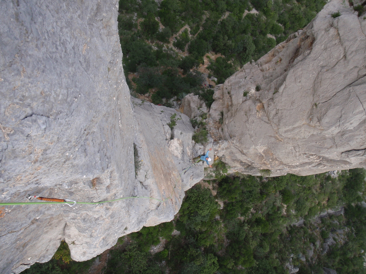 Don't forget about me! A few pitches up fantastic limestone. Photo by Lida Frydrychova.