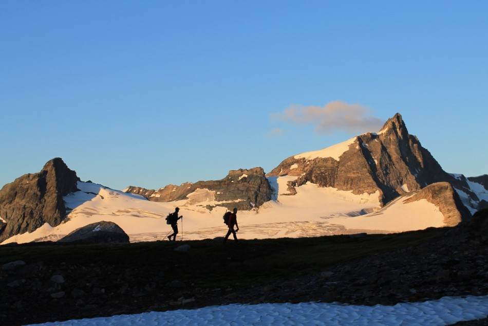 Snow field on the way up Argentine. Photo by Natasha Salway.