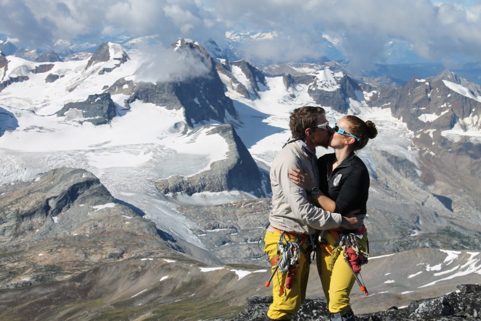 I requested another engagement photo on the Friday of camp. We had a beautiful sunny day with our proposal mountain, Goldstream South, in the background.