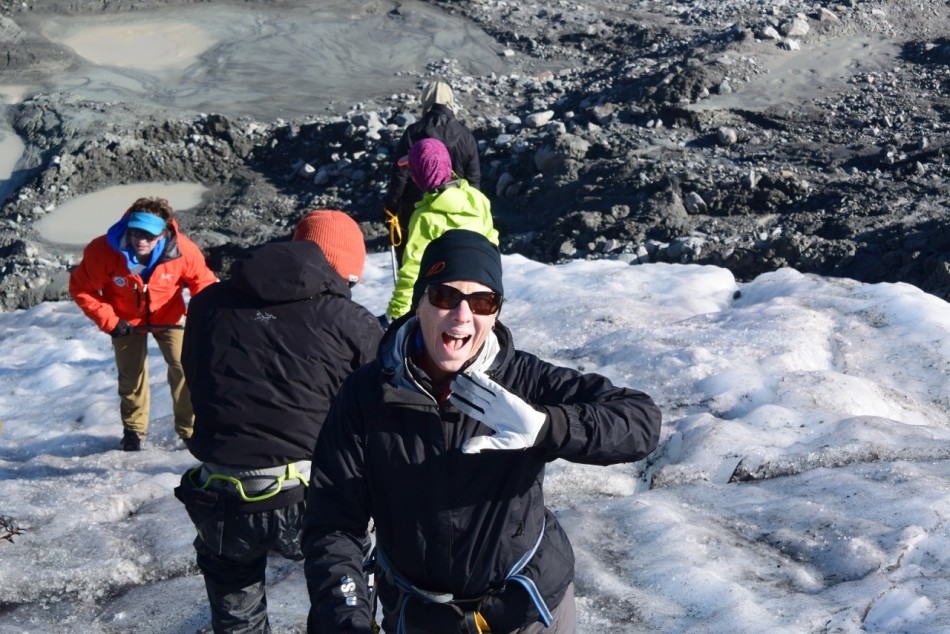 Our moms' first time on a glacier for snow school and climbing Apprentice peak above the camp.