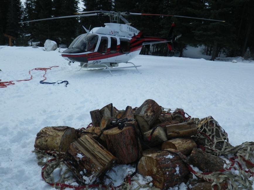Firewood for the Fryatt Hut. Photo by Nicole Larson