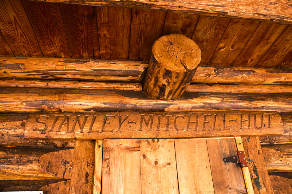 Welcome to the Stanley Mitchell Hut. Photo by Adrienne Corcoran.