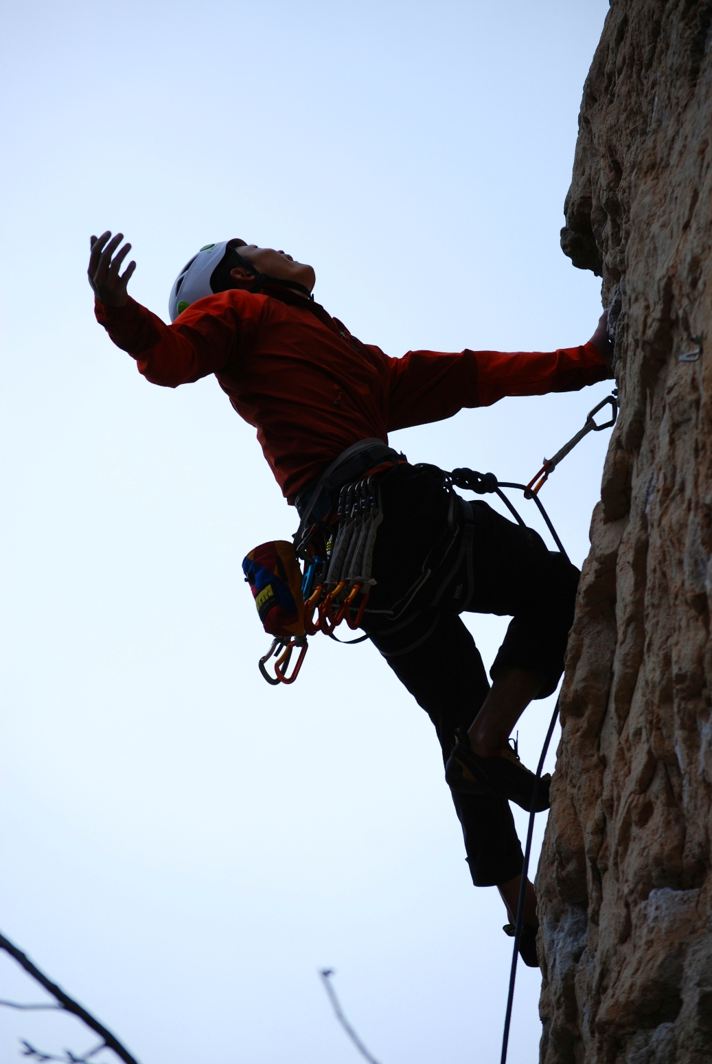 Shawn Shi on Yippey-Kay-Yay 5.10c.Photo by Jamie Leibel.