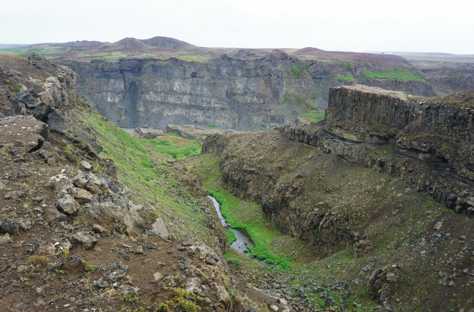 Following along the valley past Dettifoss. Photo by Kara Folkerts.