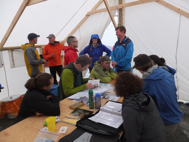 Classroom time is important for trip planning and asking questions.Photo by David Williams.