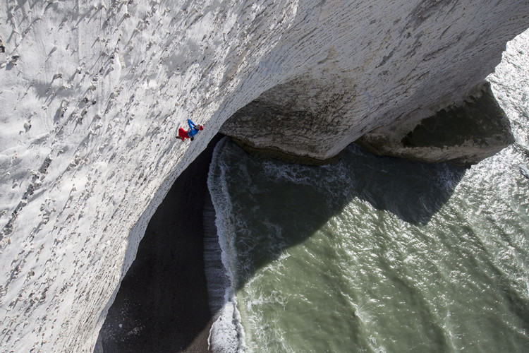 Gord McArthur competing in the Red Bull White Cliffs competition on the Isle of Wight in October.