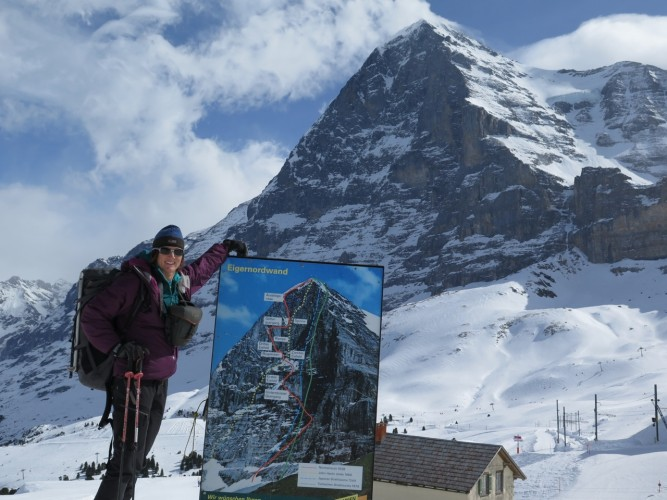 Cable cars, chairlifts, and of course, a train ride that tunnels up inside the Eiger and deposits you at over 3,400m!