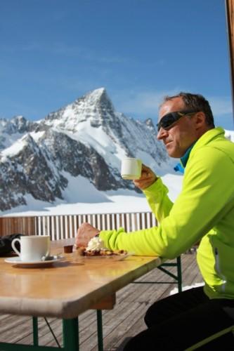 "Life at a European ""hut"", 3,048m."