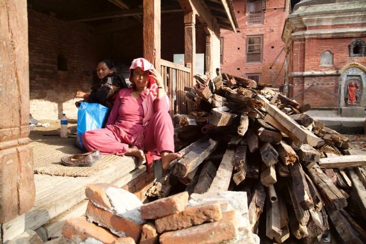 In Bhaktapur, Nepal.