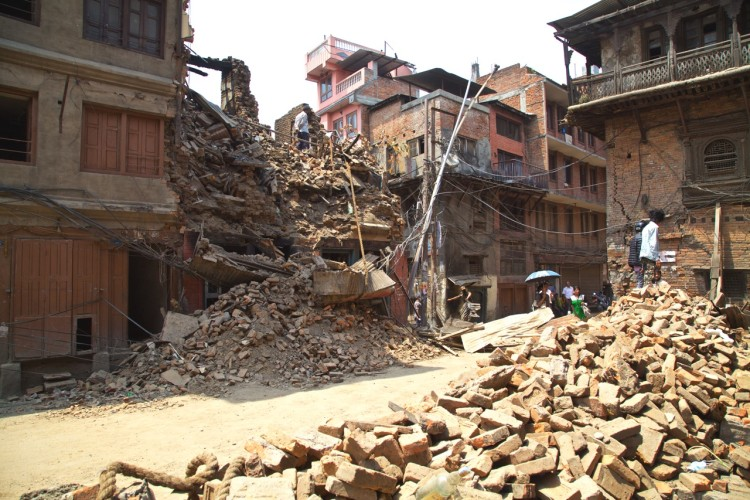 Fortunately, we've witnessed very few scenes such as this one in Kathmandu.