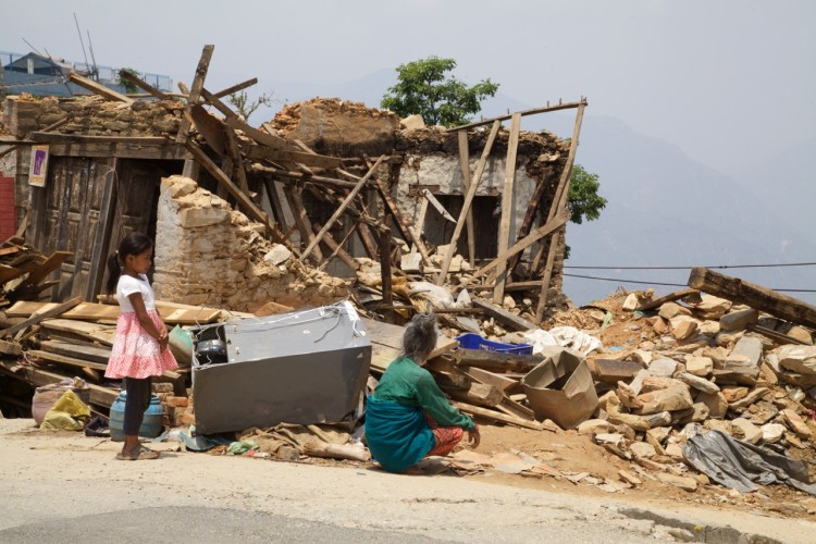 Grandmother and granddaughter still at a loss over where to begin two weeks after the April 25 earthquake in Nepal.