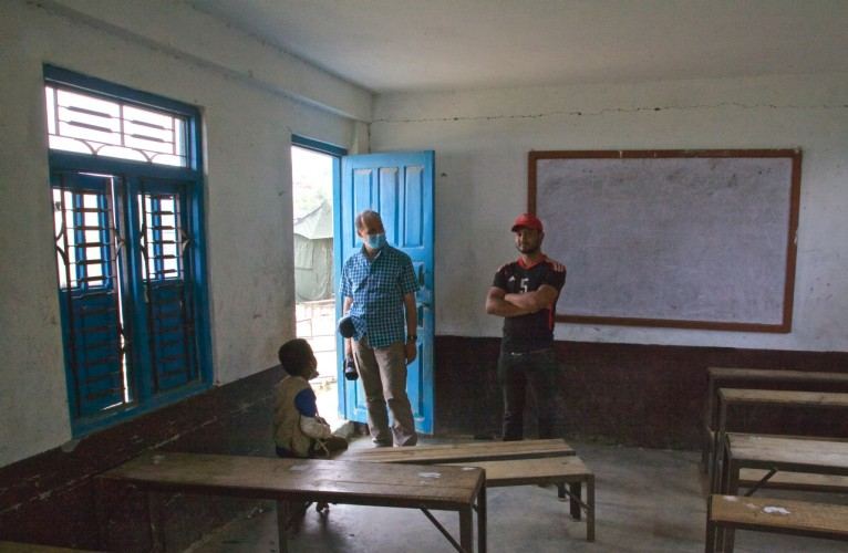 Ralf with a current and past student of the Irkhu school. The 21-year old man on the right spoke excellent English – surprising for a someone living in such a remote village. Good school!