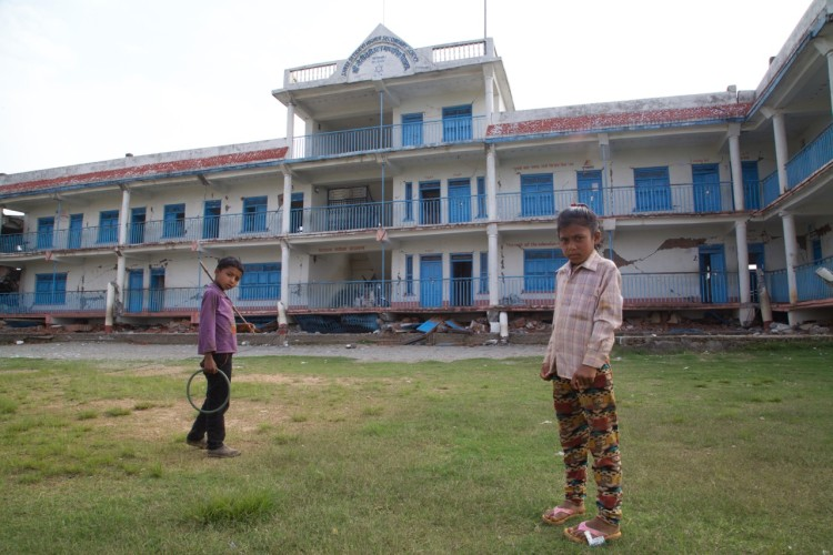 This school in Thulosirubari held 600-700 children. Some of them walked incredible distances from even more remote villages.