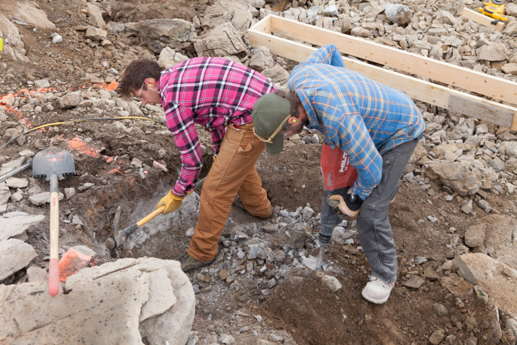 Foundation digging. Photo by Roger Vernon.
