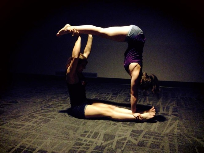 Your climbing training includes acro yoga, right?.