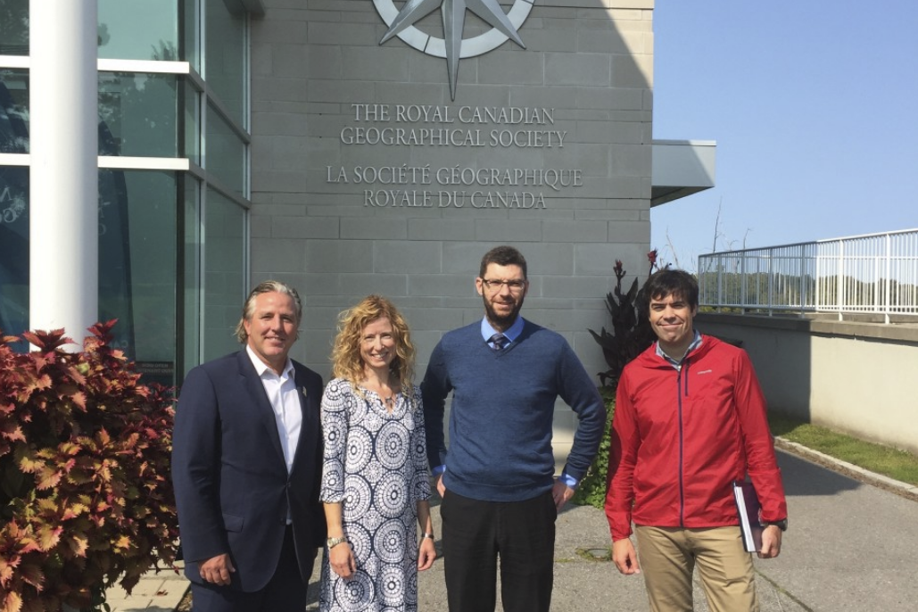 ACC President Neil Bosch, Zac Robinson (VP for Mountain Culture), Lael Parrott (VP for Access and Environment) and David Hik (Mountain Culture Committee member and RCGS Fellow) travelled to Ottawa to meet with Aaron Kylie, Senior Editor of Canadian Geographic to discuss and plan joint projects arising from the MOU and these three broad objectives.