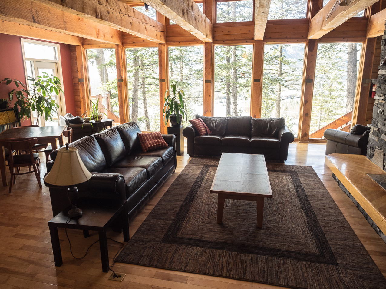Common room at the Canmore Clubhouse.