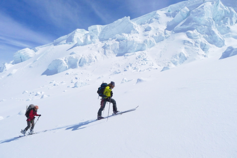 On approach of what will be a great ski decent. Photo by Christian Pedersen.