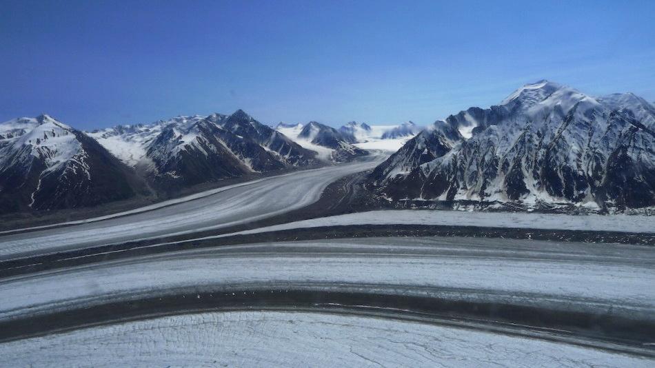 The impressive Kaskawulsh Glacier in Kluane National Park in the Yukon. Photo by Barret Hatton.