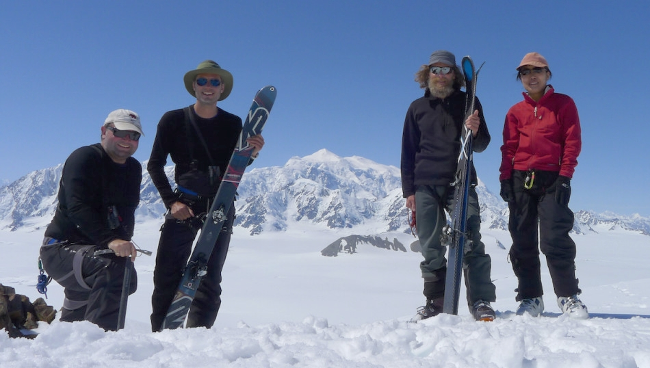 A happy crew on top of the Pikatak (Check links below for route desctiption). Photo by Barret Hatton.