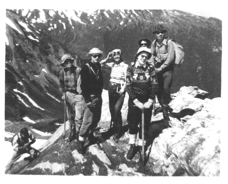 Summit of Quintet #3, July 26, 1946. Photo by Ted Mills.