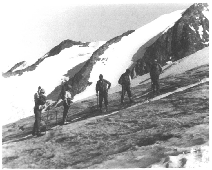 Nailed boots on the glacier. Photo by Ted Mills.