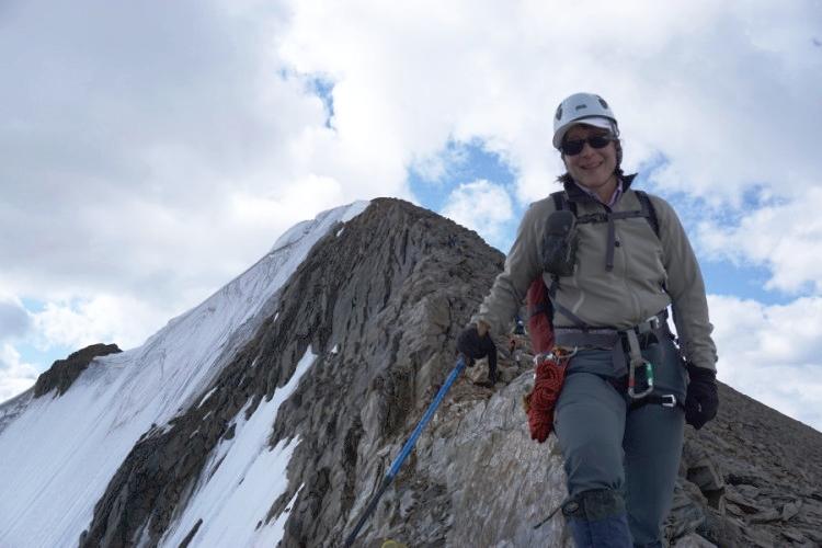 Summit ridge of Eyebrow Peak. Photo by Elizabeth Eckhardt.