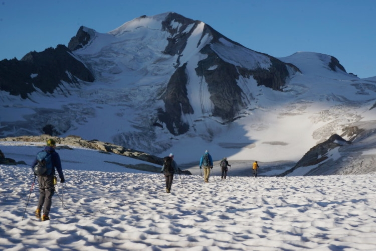 Morning light on glacier. Photo by Elizabeth Eckhardt.