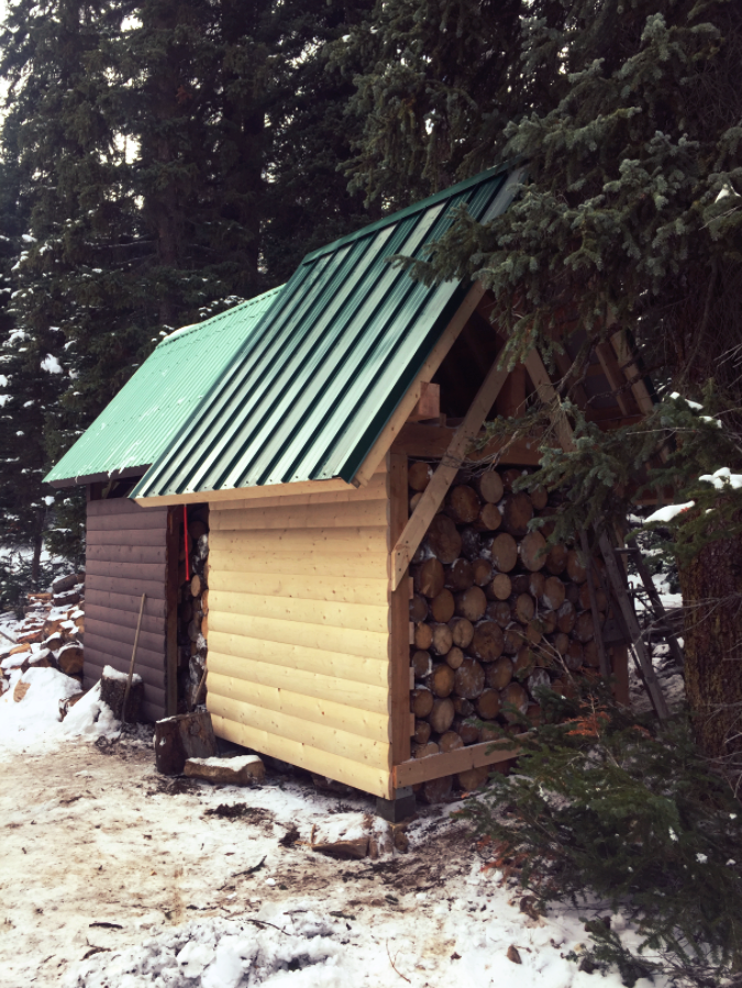 Stanley Mitchell Hut wood sheds. Photo by Nicole Larson.