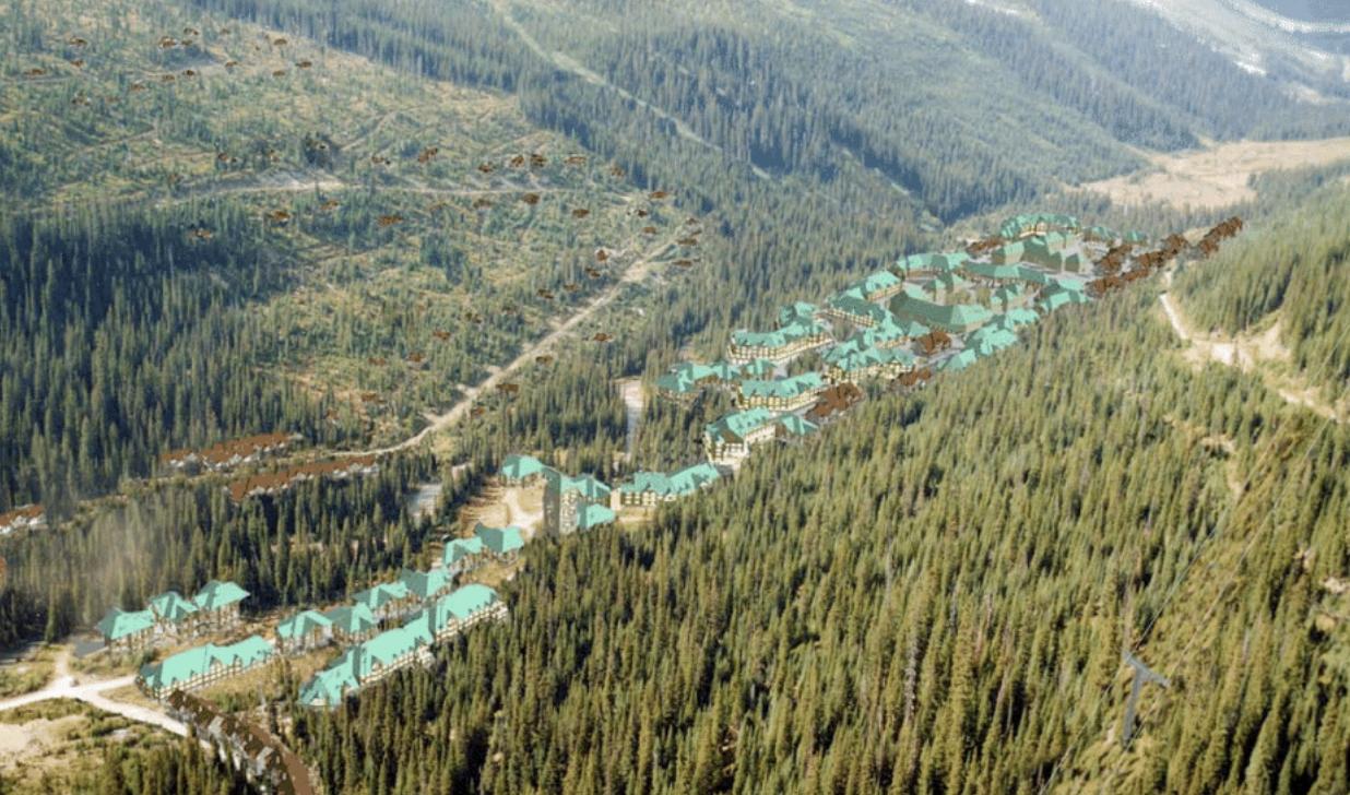 Proposed resort base. Source: Jumbo Glacier Resort master plan.